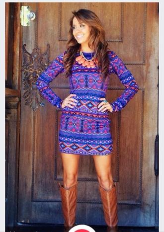 dress tribal print dress shift dress