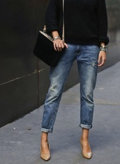 jeans,boyfriend,sweater,boyfriend jeans,shoes