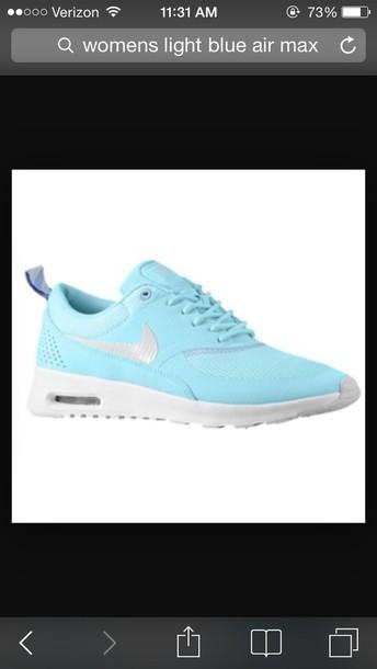 shoes nike air max mint blue color light blue