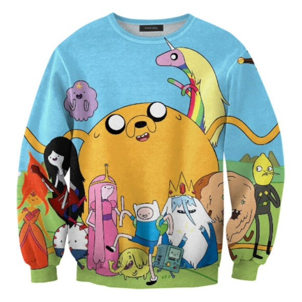 sweater adventure time sweater