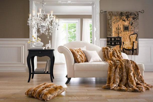 Home Accessory Fur Cushions White Cushions Decorative Cushions Home Decor Living  Room Living Room Decoration Idea