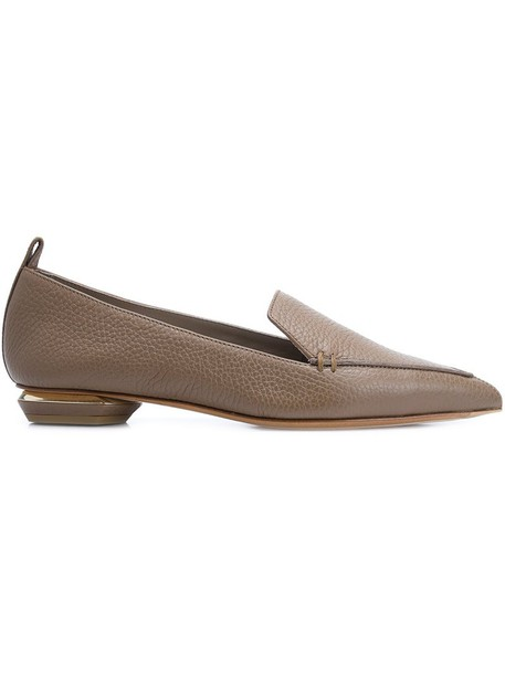 Nicholas Kirkwood women loafers leather brown shoes