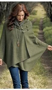 cape,green cape,khaki cape,coat,khaki,green,jacket