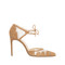 'lana' - tobacco calf suede geometric panelled pump. 100mm heel. – bionda castana online store
