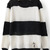 Black White Striped Long Sleeve Pullovers Sweater - Sheinside.com