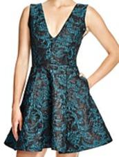 dress,blue,green,blue dress,green dress,black,jacquard