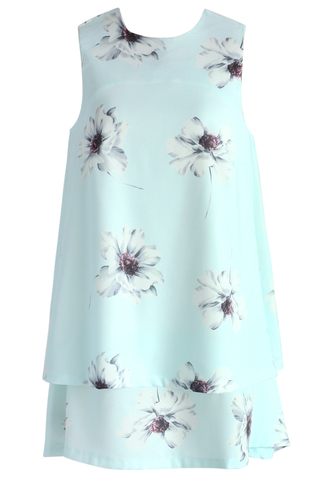 dress chicwish watercolor floral tiered chiffon dress in mint chiffon dress mint dress floral dress summer dress chicwish.com watercolor dress