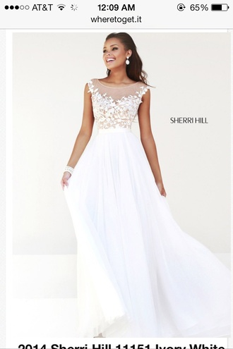 dress sleeved sherri hill ivory gown