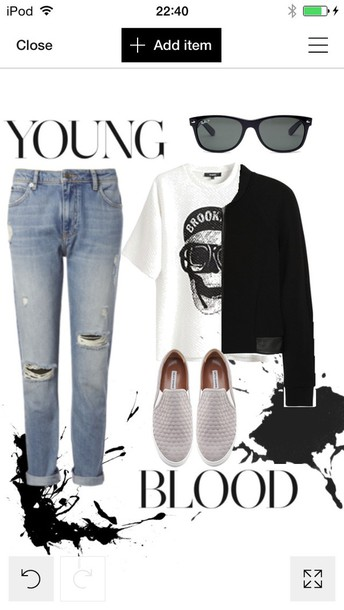 shoes trainers sneakers style streetwear casual slip on shoes sunglasses grunge boyfriend jeans off-white rayban jeans