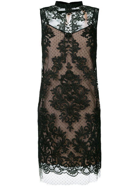 No21 dress women lace black silk