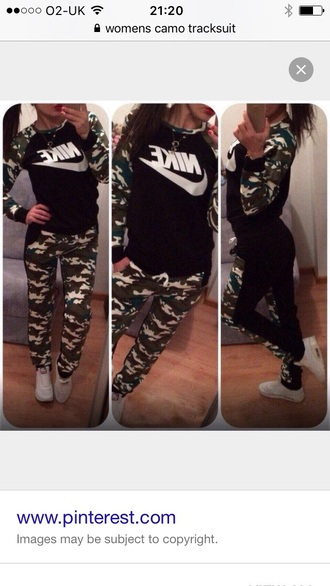 romper nike camouflage nike womens sweatsuits