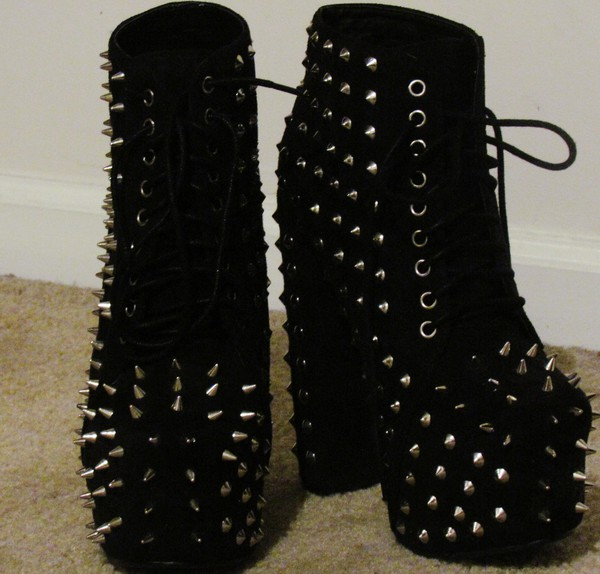 shoes spikes heels