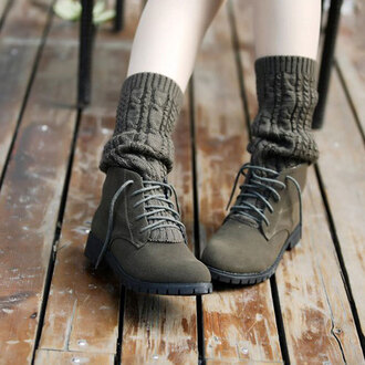 shoes lace up retro wool sock