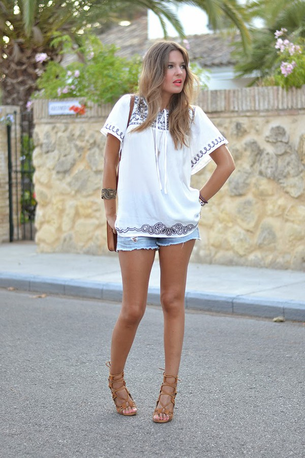 mi aventura con la moda blogger blouse shoes bag