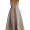 Gabriella floral and geometric-jacquard dress