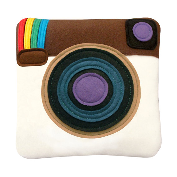 Instagram pillow by craftsquatch on etsy
