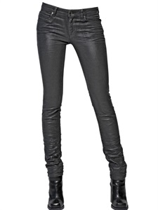 LUISAVIAROMA.COM - DIESEL BLACK GOLD - 14CM COATED STRETCH DENIM SKINNY JEANS