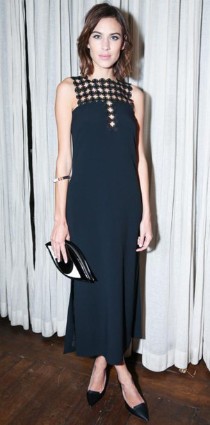 dress alexa chung black bag