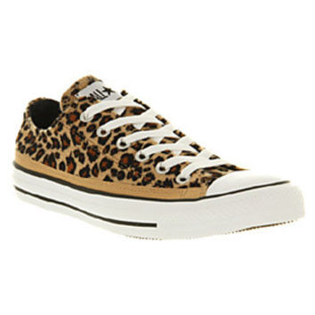 Converse ALL STAR OX LOW LEOPARD PRINT FAUX FUR ... d171902aa