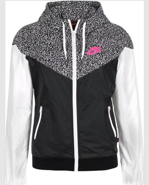 154fad131093 jacket nike nike windbreaker windbreaker black white pink print