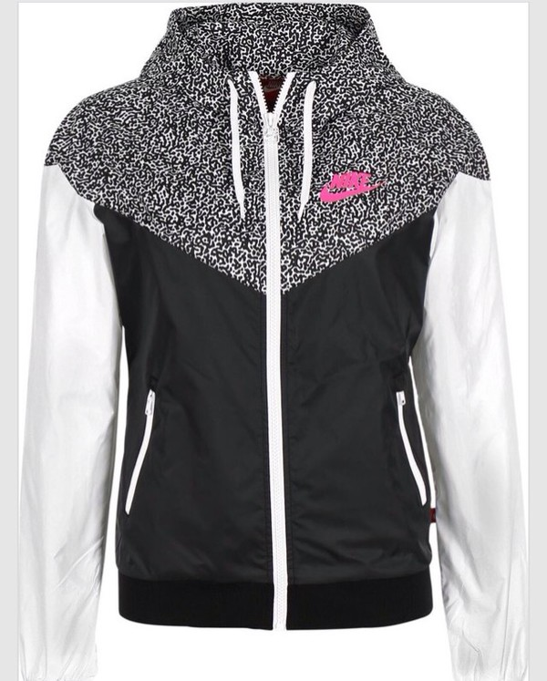Jacket Nike Nike Windbreaker Windbreaker Black White