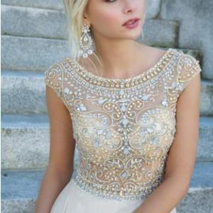 Absolutely Stunning Crystal Prom Dress.   Amazing Fashion UK