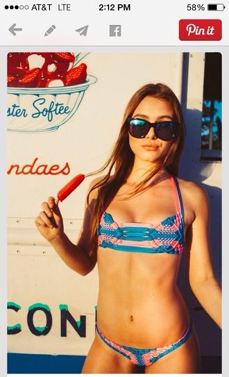 swimwear colorful crochet summer beach top bottoms summer style bikini bikini top bikini bottoms
