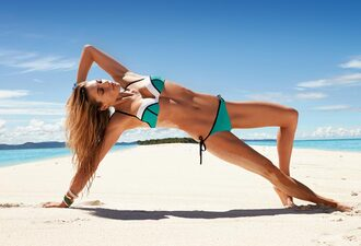 swimwear bikini green blue white black pretty summer bikini top bikini bottoms stripes