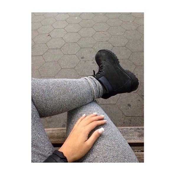 shoes boots black combat boots