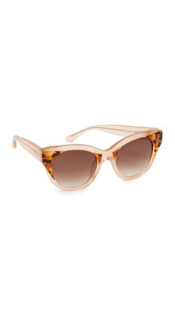 Thierry Lasry Aristocracy Sunglasses - Peach Tortoise/Brown