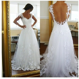 dress wedding dress vintage wedding dress lace dress lace wedding dress petals floral dress beautiful white dress white