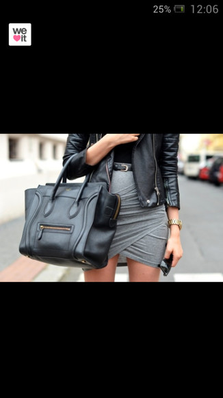 gris skirt jupe