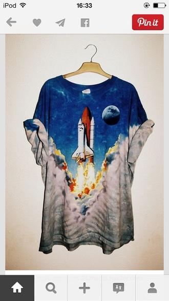 moon rocket t-shirt space