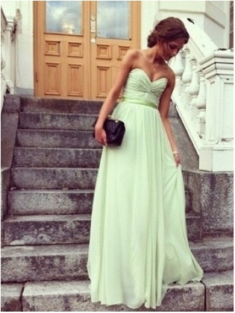 Glamorous Sage Sweetheart Floor Length Prom Dress/Graduation Dresses [B001] - $182.99 : 24inshop