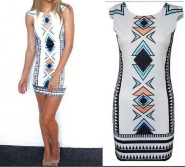 dress etnic short dress mini dress white prinr print pattern
