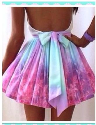 dress tie dye tie dye dress pastel pastel dress bow dress dress with low back