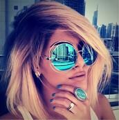 sunglasses,blonde hair,shades,vintage,retro,women,blue