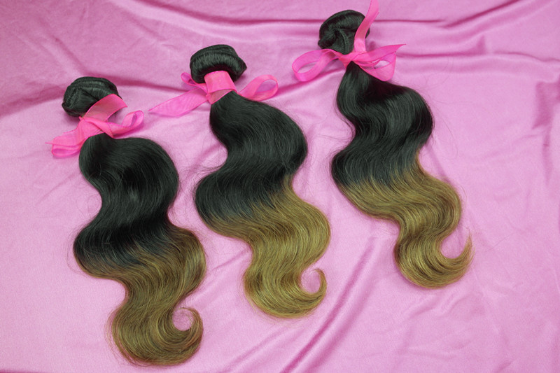 "queen hair product cheap malaysian virgin ombre hair extension body wave 1#/27# 3pcs/lot 100g/pcs 12"" 30"" free shipping-in Hair Weaves from Beauty & Health on Aliexpress.com"