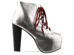 Jeffrey campbell lita in silver red at solestruck.com