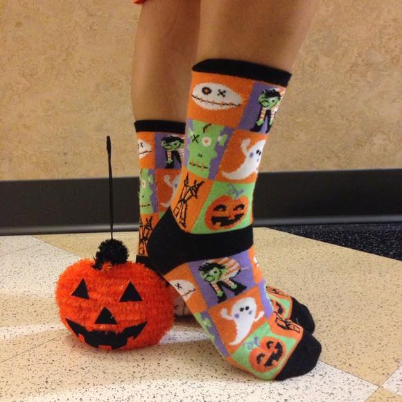 orange socks festive socks orange socks pumpkin socks halloween socks festive ghost