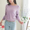 Yesstyle: vividress- cable-knit sleeve knit top (purple - one size) - free international shipping on orders over $150