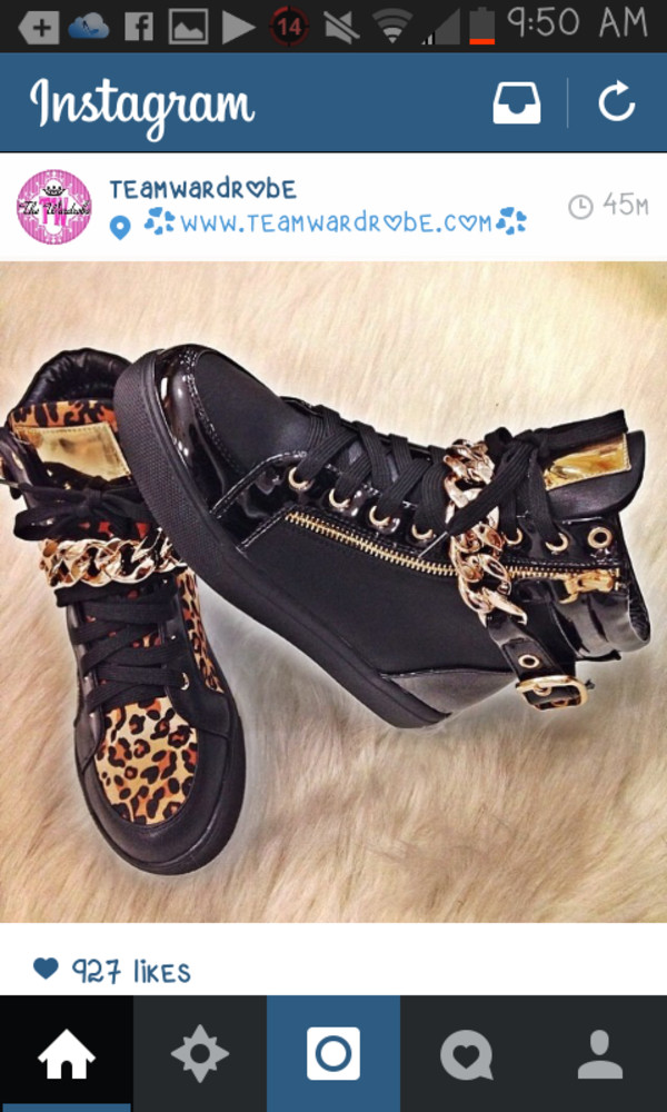 shoes leopard print sneakers high top sneakers chain chain sneaker