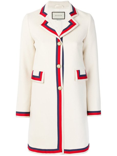 gucci coat women white cotton wool
