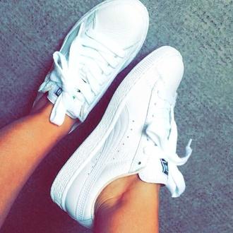 shoes puma puma shoes white shoes white sneakers