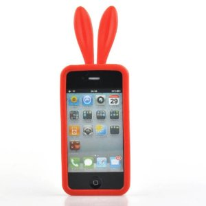 Neewer Red Soft Bunny Rabbit Rubber Skin Case Cover For Apple iPhone 4: Amazon.co.uk: Electronics