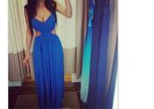 dress,blue,me,beautiful,blue dress,skirt,long,prom,cut out maxi dress,maxi dress,maxi,maxi blue dress,blue maxi dress,longg,long prom dress,long evening dress,blouse,blue maxi dress open back