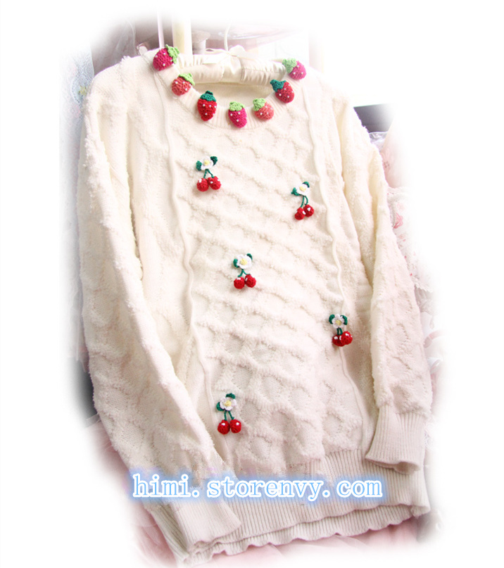 Kawaii strawberry cherry sweater Free shipping · HIMI'Store · Online Store Powered by Storenvy