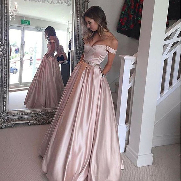 60c496938e1d dress dressesofgirl long prom dress ball gown prom dresses satin prom  dresses prom dresses 2017 ball