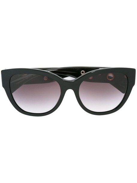 VERSACE metal women sunglasses black eyelet detail