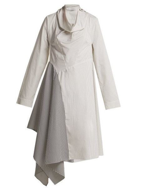 Palmer/harding Palmer//harding - Solar Contrast Stripe Cotton Shirtdress - Womens - Blue White